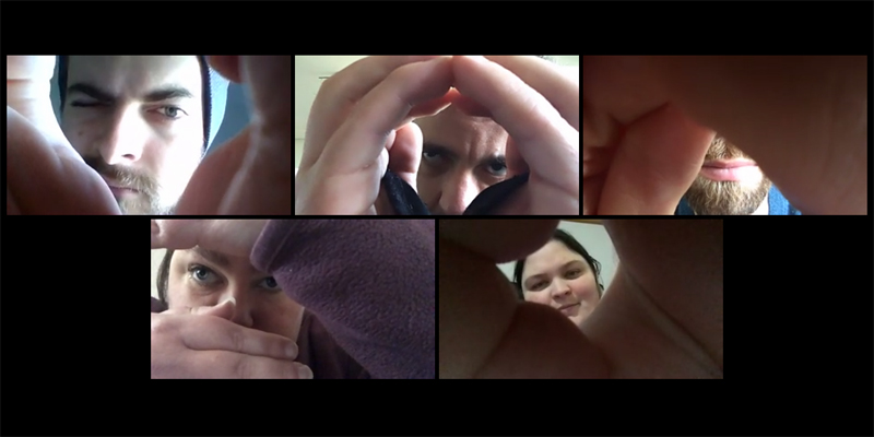 Members of Echo collective on a Zoom call
